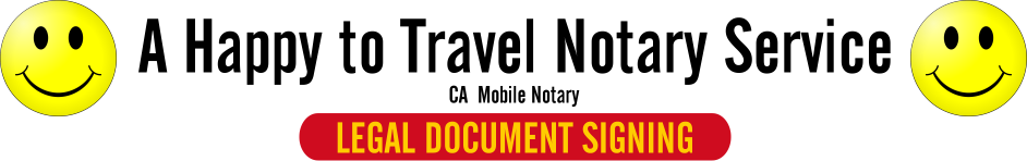 A Happy to Travel Notary Service